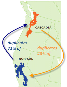 Bi-lateral duplication of print books in Cascadia and NorCal