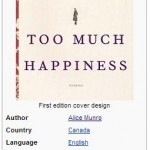 Infobox Book For Alice Munro's Too Much Happiness