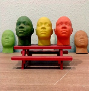 Miniature human face models made through 3D Printing (Rapid Prototyping) [Wikimedia Commons]