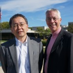 Hideyuki Seki and Jim Michalko on the OCLC headquarters campus