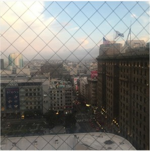 View of Union Square during the Research Library Partnership meeting